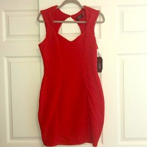 Guess red holiday dress